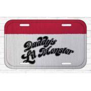 Placa De Carro Decorativa Harley Quinn (Daddy´s Lil Monster): Esquadrão Suicida - Urban