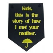 Placa Decorativa Kids, This is The Story of How I Met of Your Mother