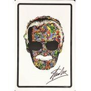 Placa Decorativa Stan Lee: Marvel Comics