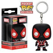 Pocket Pop Keychains (Chaveiro) Deadpool (Black Suit Version): Marvel - Funko (Apenas Venda Online)