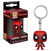 Pocket Pop Keychains (Chaveiro) Deadpool (With Swords): Marvel - Funko (Apenas Venda Online)