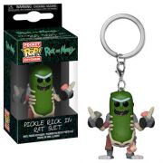 Pocket Pop Keychains (Chaveiro) Pickle Rick (Rat Suit): Rick And Morty - Funko