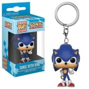Pocket Pop Keychains (Chaveiro) Sonic: (Sonic With Ring) - Funko