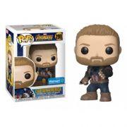 Pop! Capitão América (Captain America): Vingadores Guerra Infinita (Avengers Infinity War) Exclusivo #299 - Funko (Apenas Venda Online)