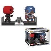 Pop! Caveira Vermelha vs Capitão América (Red Skull vs Captain America): Marvel Studios The First Ten Years (Movie Moments) Exclusivo #389 - Funko
