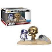 Pop! Escape Pod Landing (R2-D2/C-3PO): Star Wars (Movie Moments) Exclusivo #222 - Funko