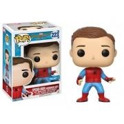 Pop Homem-Aranha Sem Máscara com Uniforme Caseiro (Spider-Man: Homemade Suit): Homem-Aranha De Volta ao Lar (Spider-Man Homecoming) #223 - Funko