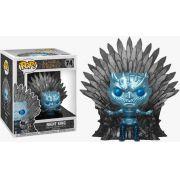 Pop! Night King (on Iron Throne) Metálico: Game of Thrones (Exclusivo) #74 - Funko