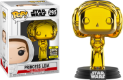 Pop! Princesa Leia (Gold Chrome): Star Wars (Exclusivo) #295 - Funko