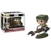 Pop! Princess Leia (Speeder Bike): Star Wars (Exclusivo) #228 - Funko