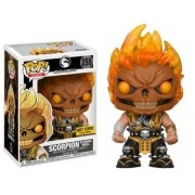 Pop Scorpion (Flaming Skull): Mortal Kombat X (Exclusivo) #255 - Funko