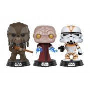 POP Star Wars: Tarfful, Emperador palpatine e Utapau Clone Trooper #3 Exclusivo Pack com 3 Pop Funko