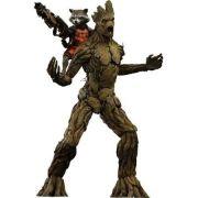 Boneco Rocket Raccoon e Groot: Guardiões da Galáxia (Guardians of the Galaxy) Escala 1/6 (MMS254) - Hot Toys - CG