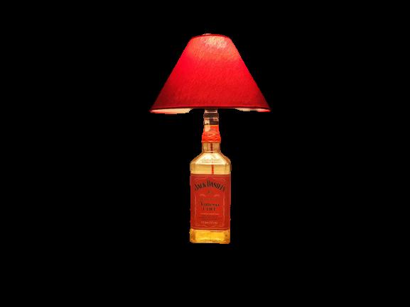 Abajur / Luminária Garrafa de Jack Daniel's  Vermelha - AZ Design