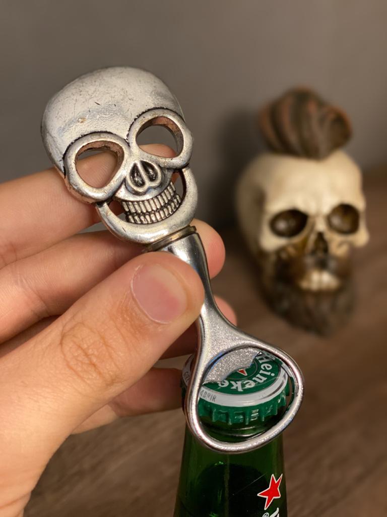 Abridor Caveira Skull Rock Style