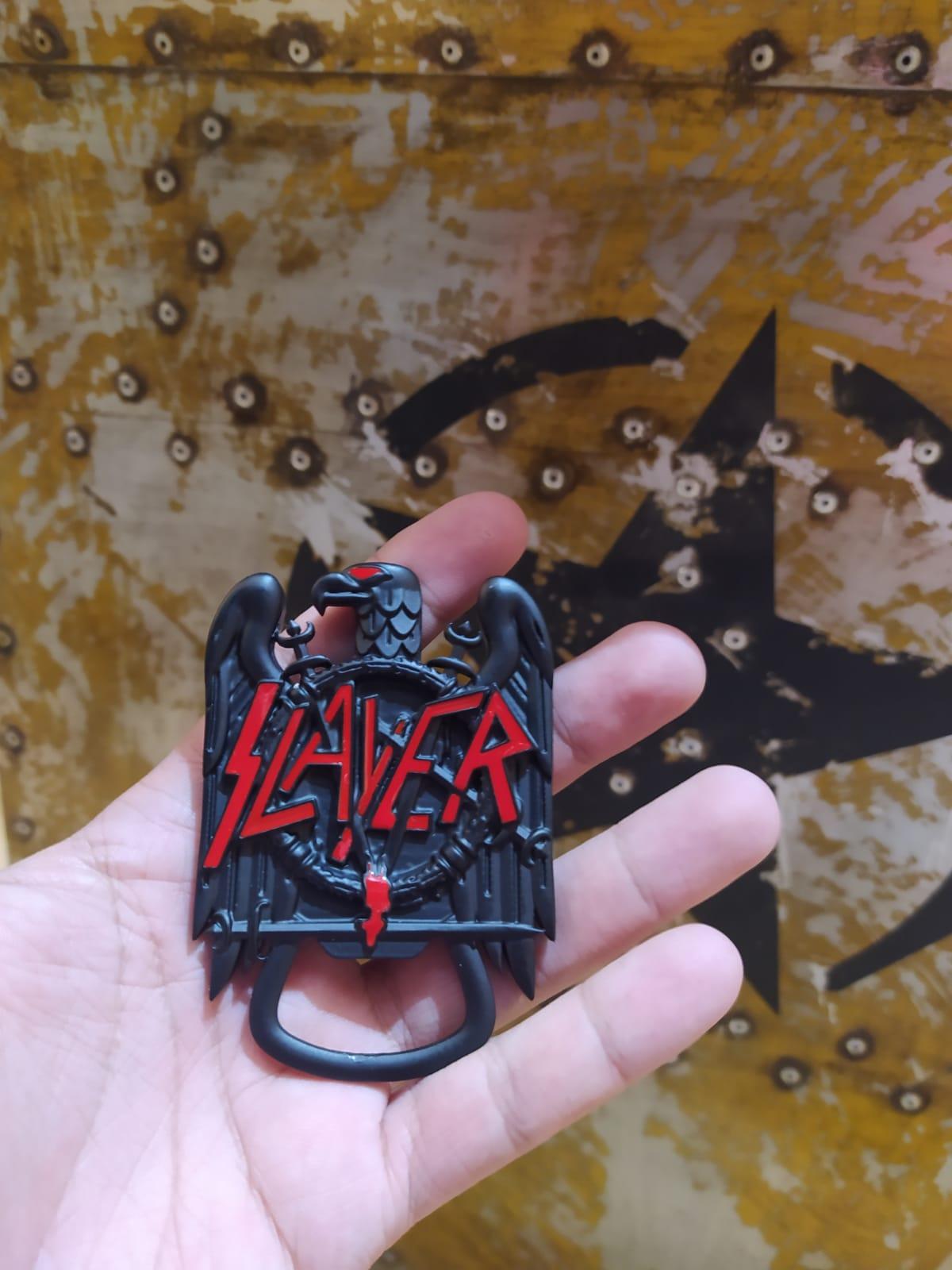 Abridor De Garrafa Banda Águia Slayer Preto