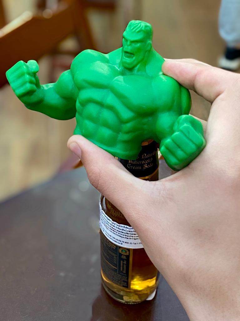 Abridor de Garrafa: Busto Hulk - Marvel