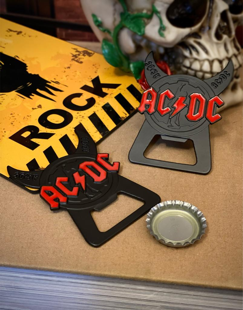 Abridor de Garrafa Com Imã AC/DC Rock Band