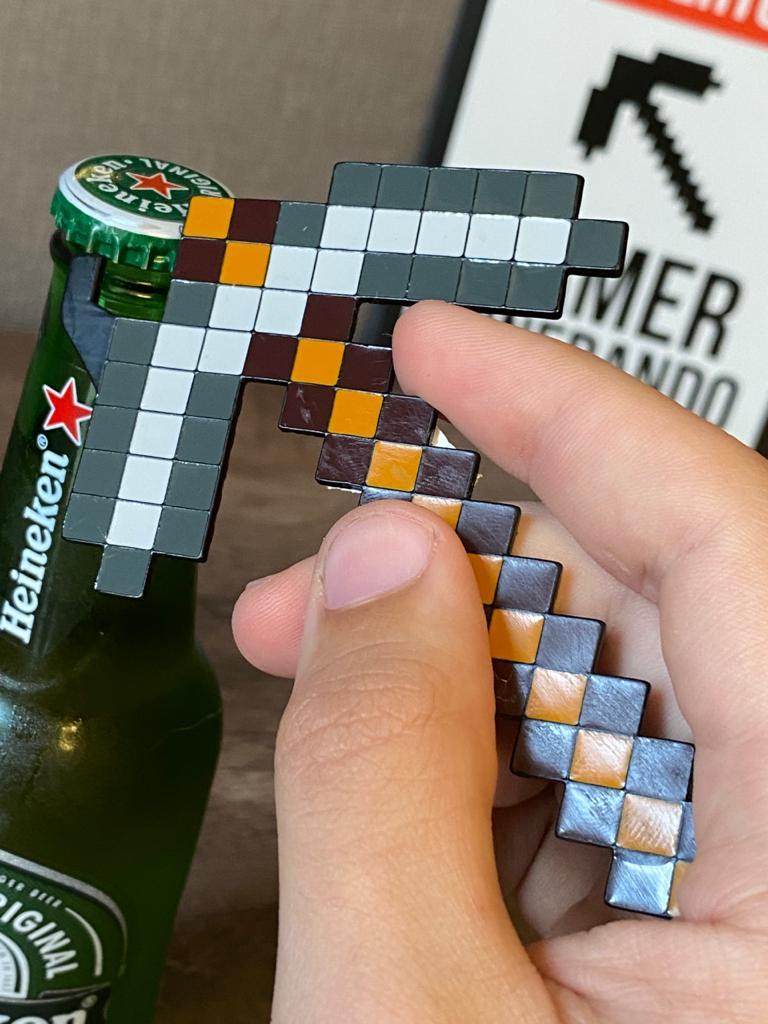 Abridor de Garrafa: Picareta - Minecraft