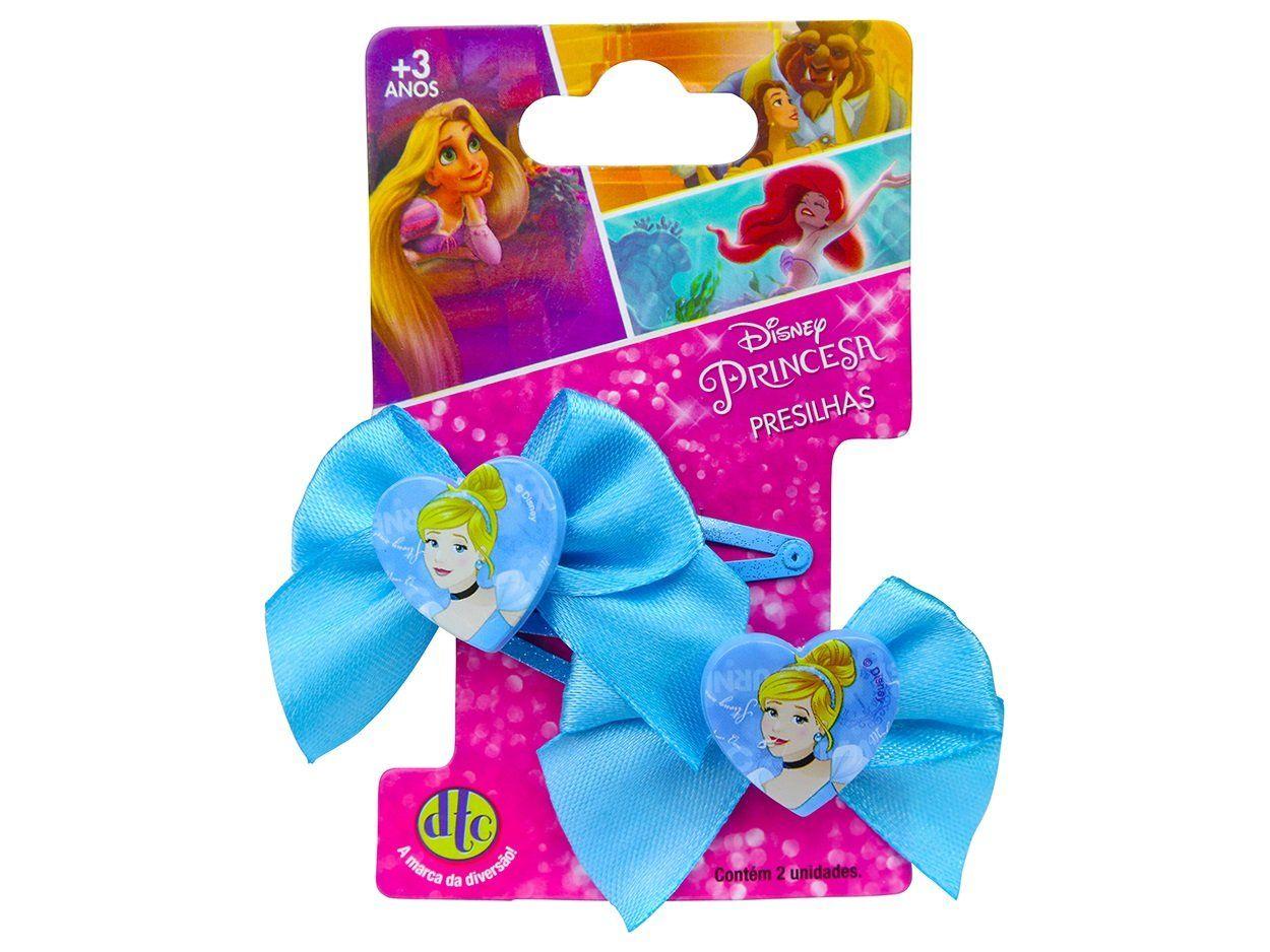 Acessório Princesas Disney: Presilhas com laço Cinderela - DTC