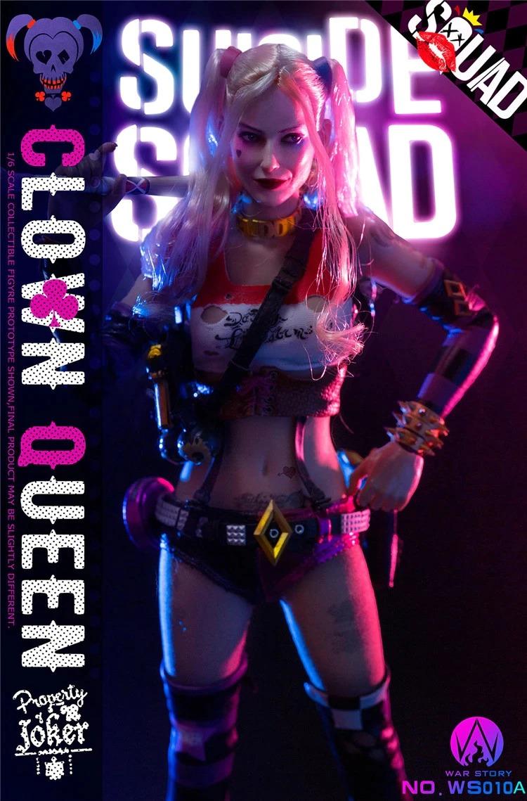 Action Figure Arlequina Harley Quinn Edição De Luxo WS010-B Escala 1/6 - War Story