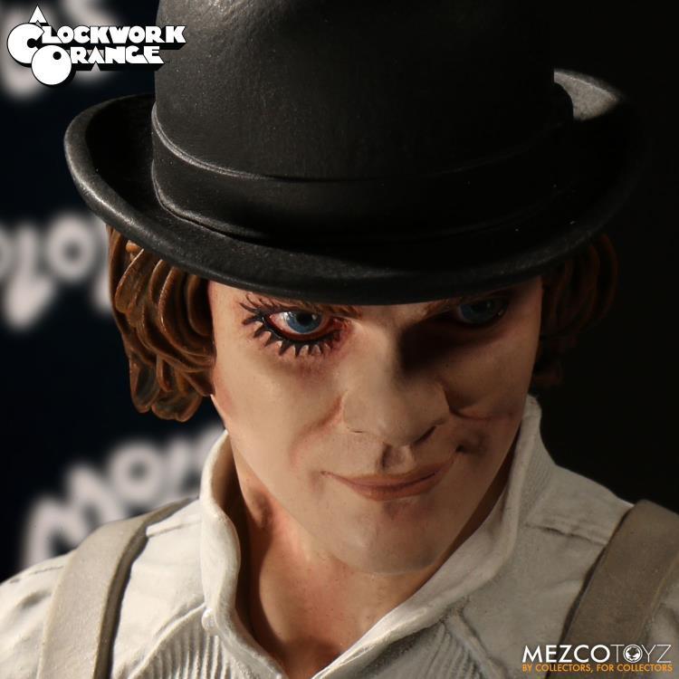 Action Figure Alex DeLarge: Laranja Mecânica (A Clockwork Orange) Boneco Colecionável - Mezco