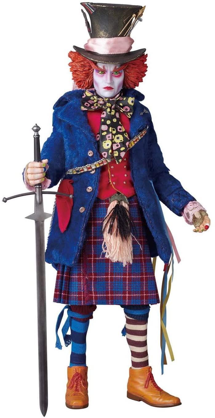 Action Figure Chapeleiro: Alice No País Das Maravilhas Alice in Wonderland MAD Hatter: (Real Action Heroes) Blue Jacket Version Escara 1/6 - Medicom Toy