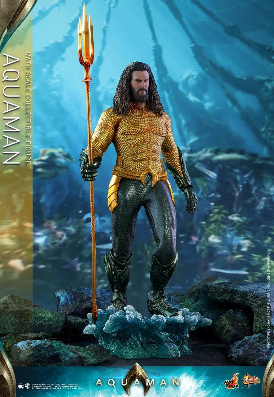 Action Figure Aquaman Arthur Curry O Rei de Atlântida  MMS 518 Escala 1/6 DC Comics - Hot Toys