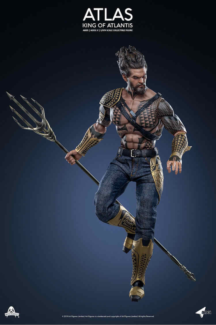 Action Figure Aquaman O Rei de Atlântida (King Of Atlantis) (AI005)  Escala 1/6 - Atlas