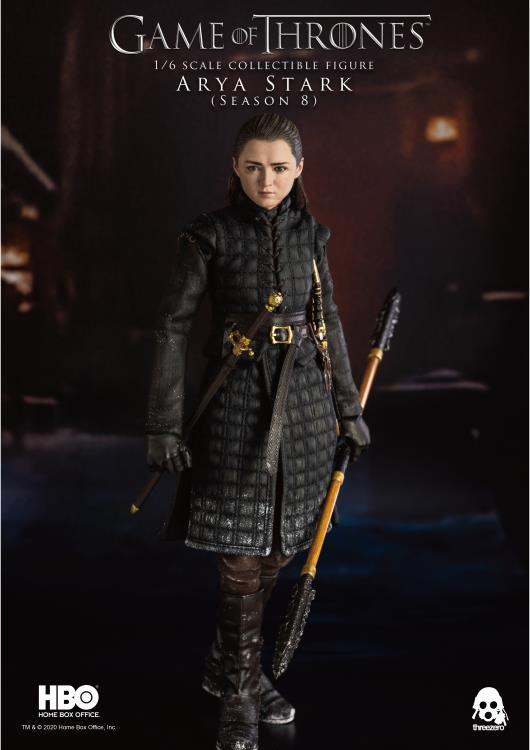 Pré Venda: Action Figure Arya Stark Season 8: Game Of Thrones Escala 1/6 - Threezero
