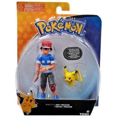 Action Figure Ash e Pikachu: Pokémon - Tomy