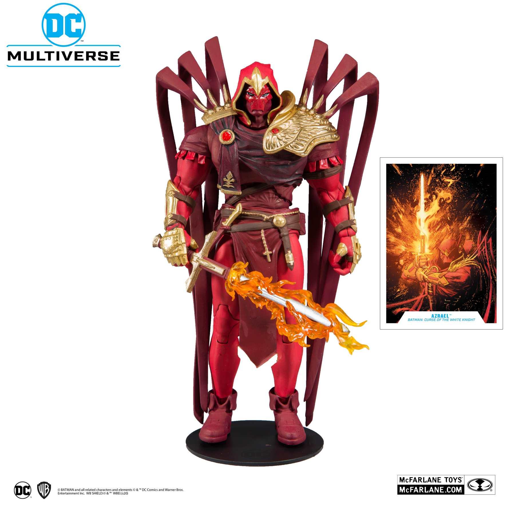 Action Figure Azrael O Cavaleiro Branco (Azrael White Knight): DC Multiverse - McFarlane Toys