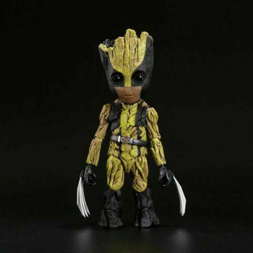 Action Figure Baby Groot Wolverine Guardiões da Galáxia Vol. 2 Guardians of the Galaxy Vol. 2 Escala 1/6 - Marvel Comics