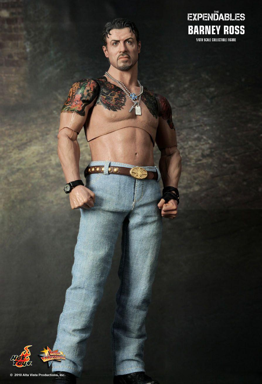 Action Figure Barney Ross: Os Mercenários (The Expendables) Escala 1/6 (MMS138) Boneco Colecionável - Hot Toys