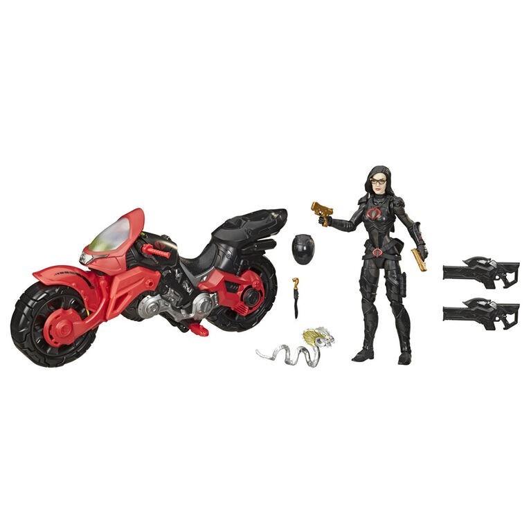 Action Figure Baronesa e Moto (Baroness With Cobra C.O.I.L): G.I Joe (Cobra Island) - Hasbro