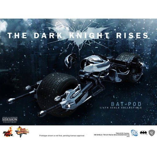 Action Figure Bat-Pod The Dark Knight Rises Escala 1/6 (MMS177) - Hot Toys