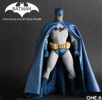 Action Figure Batman: DC Comics Classico Azul Classic Blue Escala 1/6 - Crazy Toys