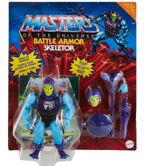 Action Figure (Battle Armor) Esqueleto Skeletor: He-Man e os Mestres do Universo He-man and the Masters of the Universe - Mattel