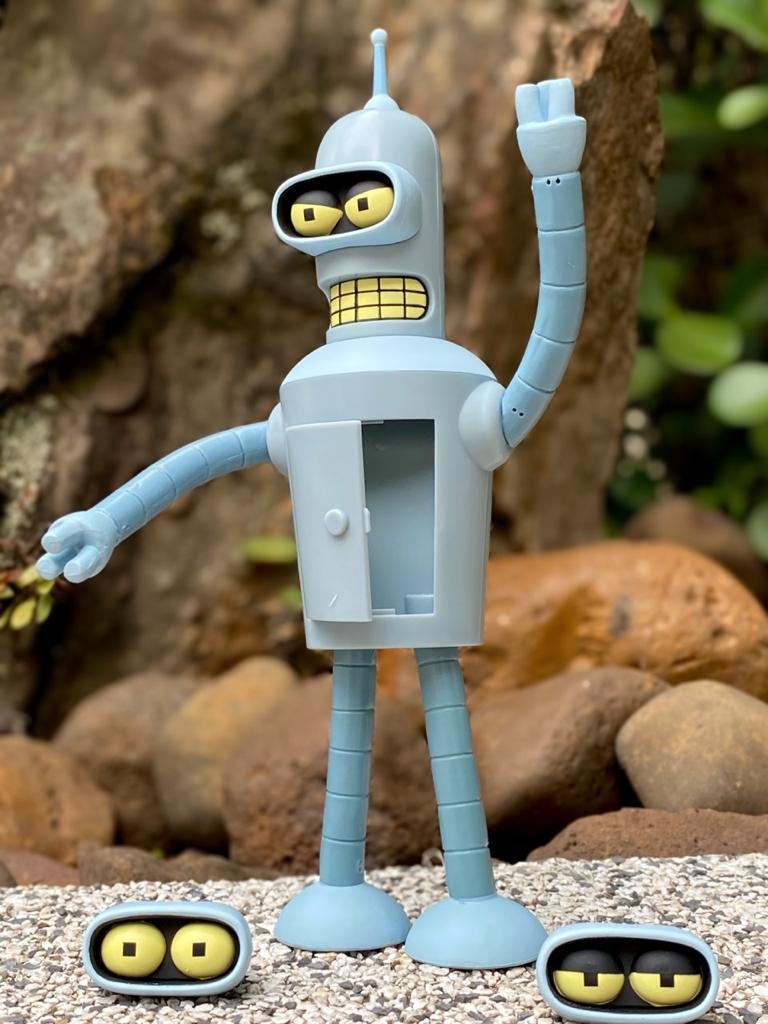 Action Figure Bender (Falante / Talking): Futurama - Toynami