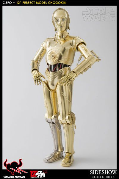 Action Figure C-3PO: Star Wars Escala 1/6 Boneco Colecionável (Tamashii Nations) - Sideshow