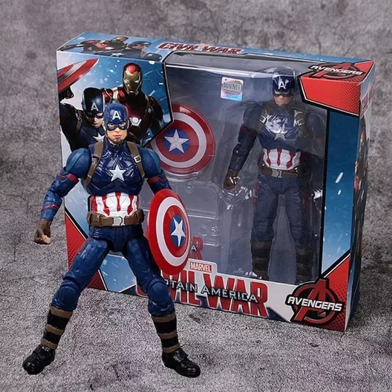 Action Figure Capitão América Captain America: Guerra Civil Civil War - Marvel - Western Animation