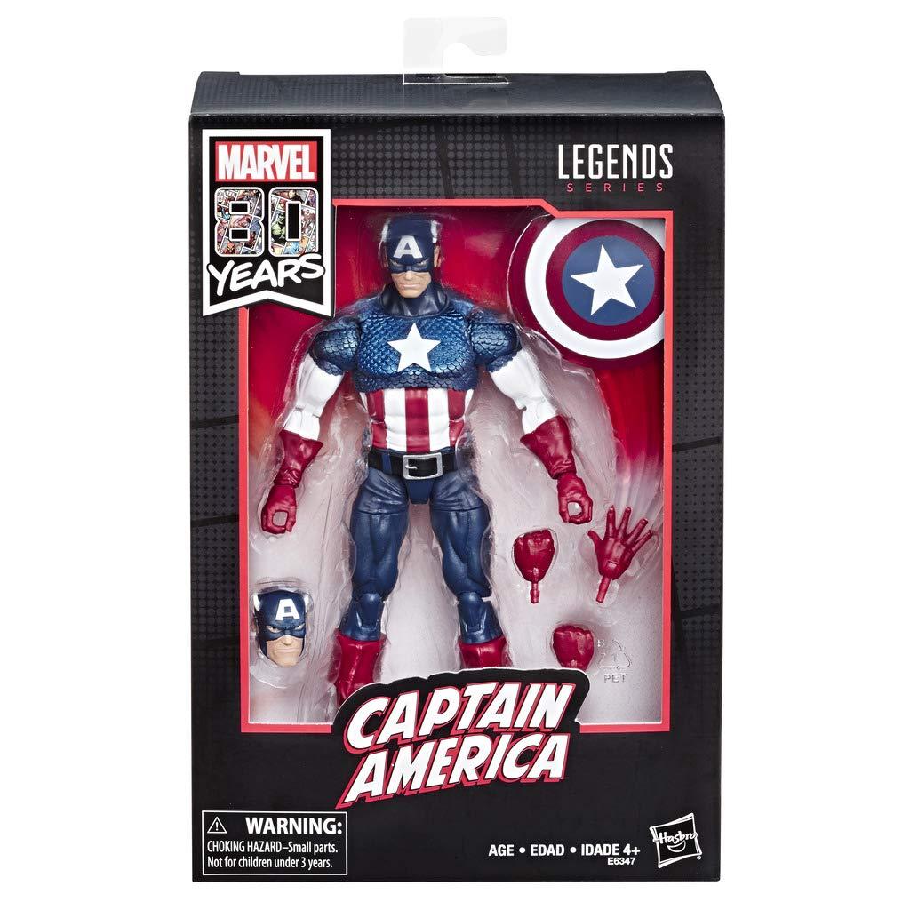 Action Figure Capitão América (Captain America): Marvel Legends (80th Anniversary) Boneco Colecionável - Hasbro