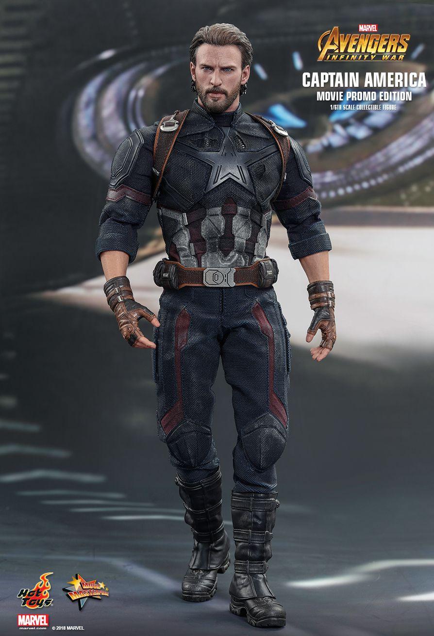 Action Figure Capitão América (Captain America Movie Promo Edition): Vingadores Guerra Infinita (Avengers Infinity War) (MMS481) Escala 1/6 - Hot Toys