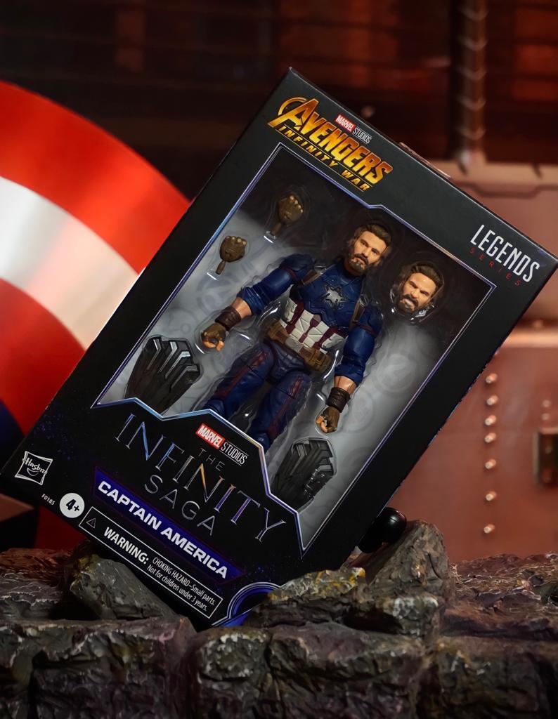 Action Figure Capitão América Captain America: The Infinity Saga Marvel Legends F0185 - Hasbro