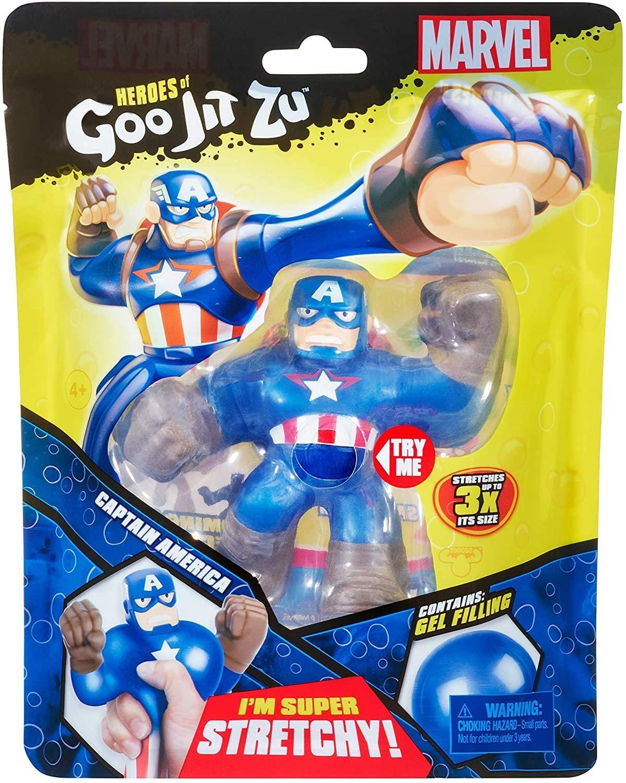 Action Figure Capitão América: Heroes of Goo Jit Zu Marvel - Sunny