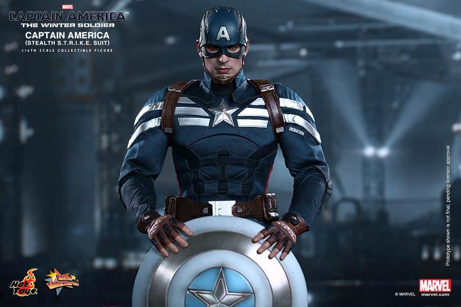 Action Figure Capitão América: Soldado Invernal (Capitain America: The Winter Soldier) (MMS242) (Escala 1/6) - Hot Toys