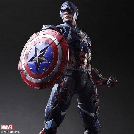Action Figure Capitão América Vingadores Avengers Marvel Kai Escala 1/6 Play Arts  - EVALI