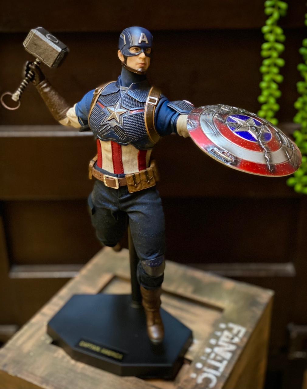 Action Figure Capitão América: Vingadores Ultimato Avengers End Game Escala 1/6 - Team Of Prototyping - EV