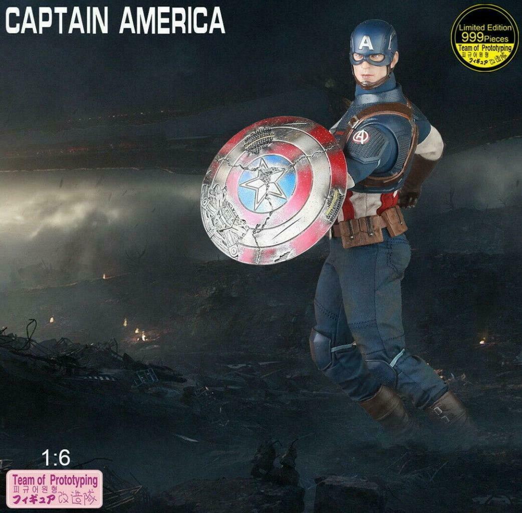 Action Figure Capitão América: Vingadores Ultimato Escala 1/6 - Crazy Toys