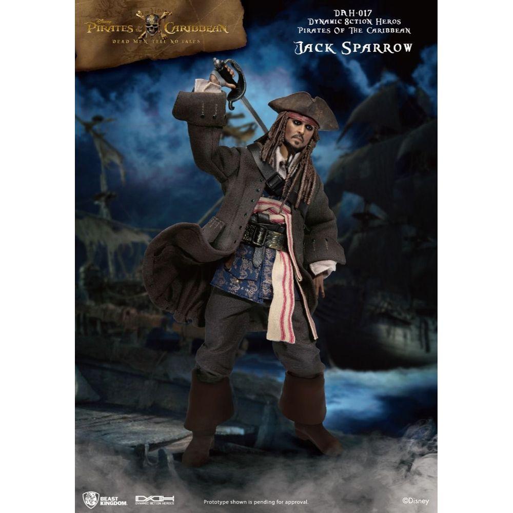 Action Figure Capitão Jack Sparrow: Piratas do Caribe Pirates of the Caribbean Escala 1/9 DAH-017 - Beast Kingdom